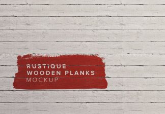 rustique wooden painted planks background mockup thumbnail