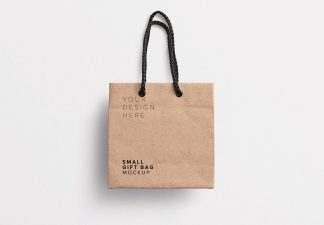 small gift bag mockup thumbnail