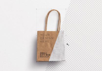 small gift paper bag mockup image01