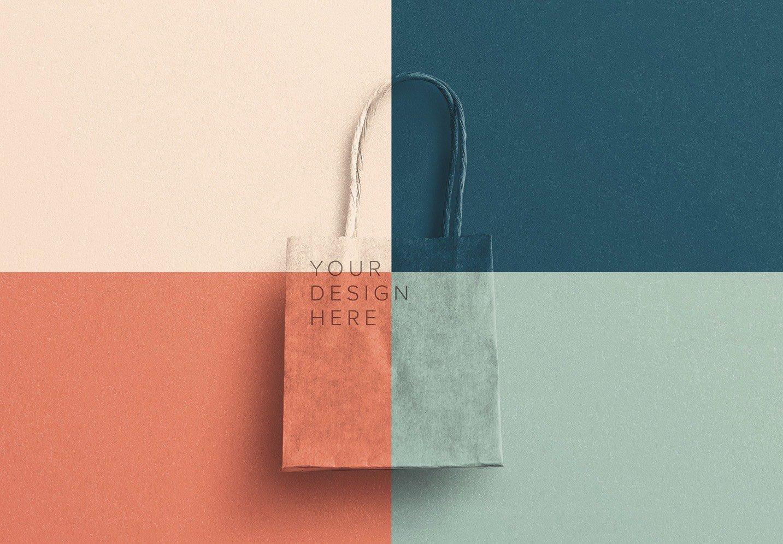 small gift paper bag mockup image02