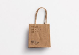 small gift paper bag mockup thumbnail