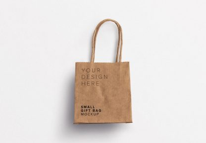 small gift paper bag mockup thumbnail