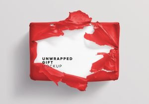 unwrapped gift mockup thumbnail