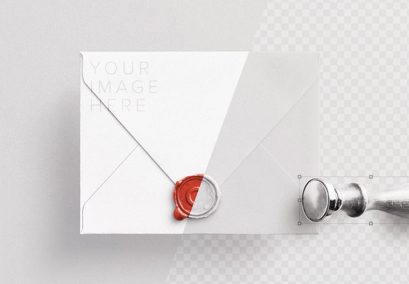 wax seal and stamp w envelope mockup image01