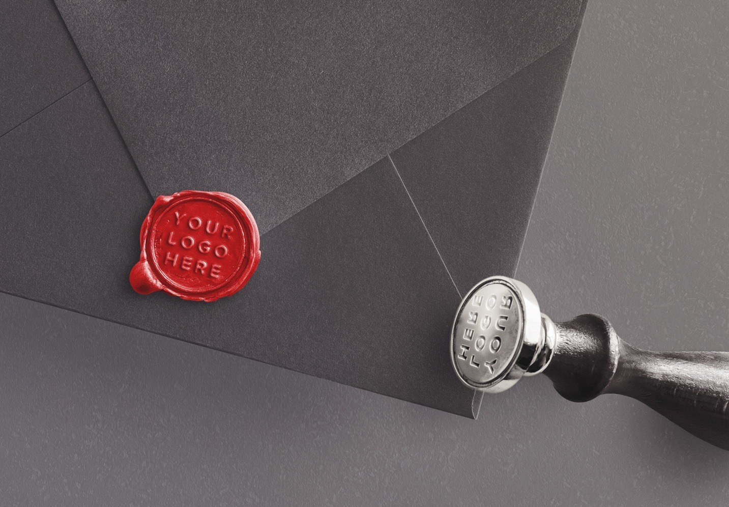 wax seal and stamp w envelope mockup image04