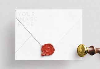 wax seal and stamp w envelope mockup thumbnail 1
