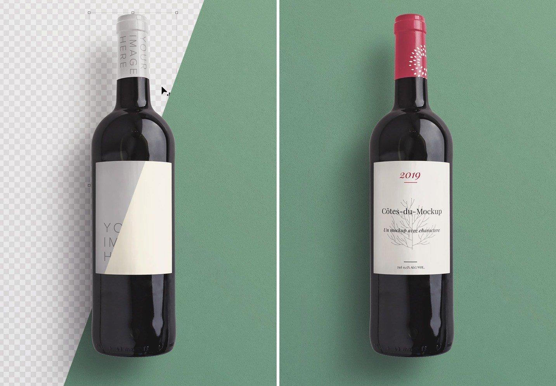 wine bottle mockup image01