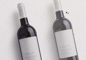 wine bottle mockup image02