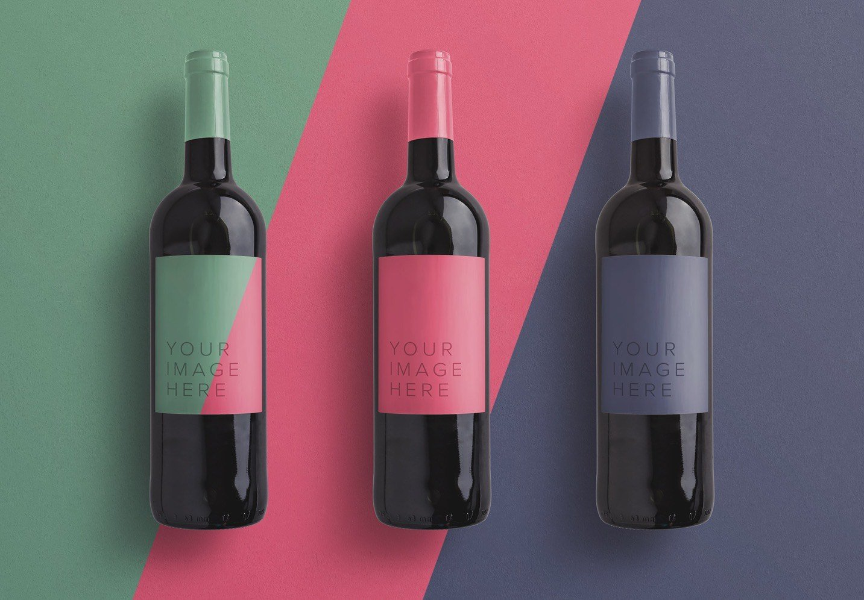 wine bottle mockup image03