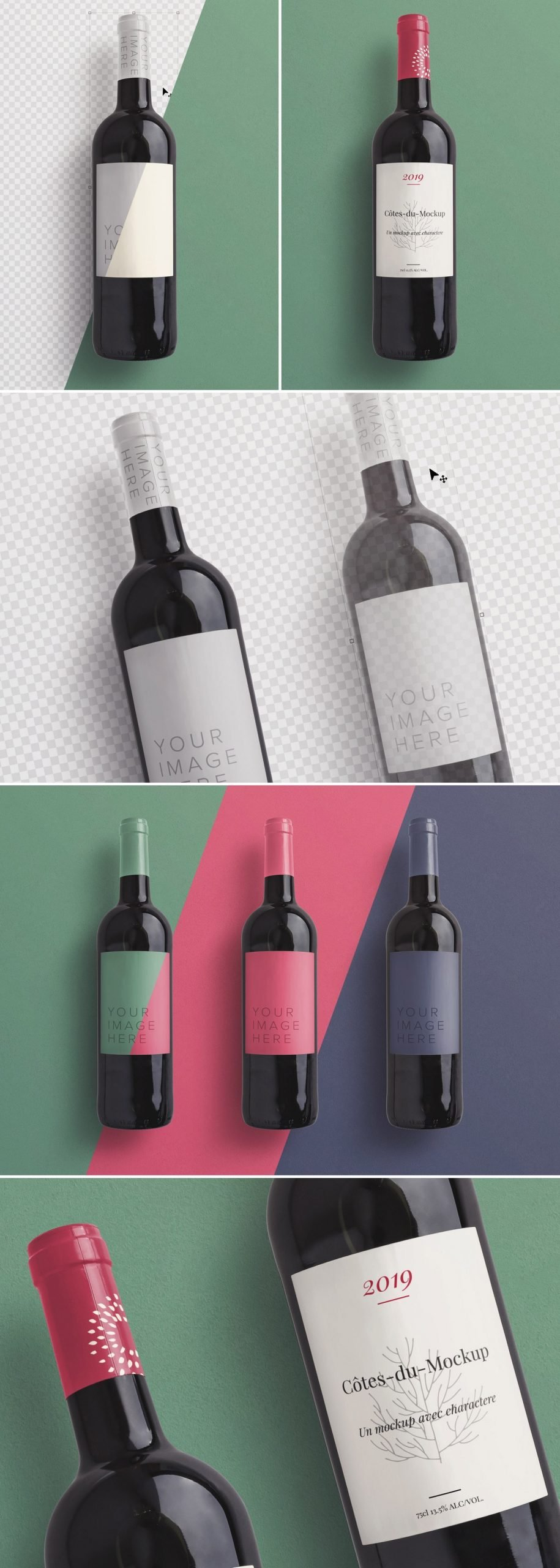 wine bottle mockup preview1 1 scaled