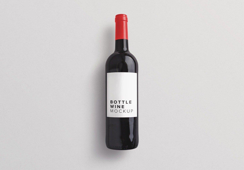 wine bottle mockup thumbnail