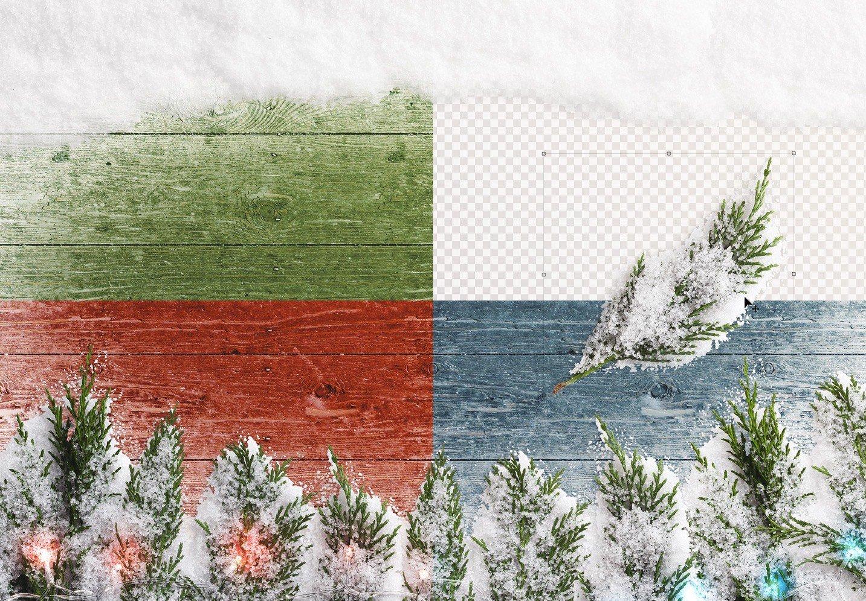 winter background w snow fir tree lights image02