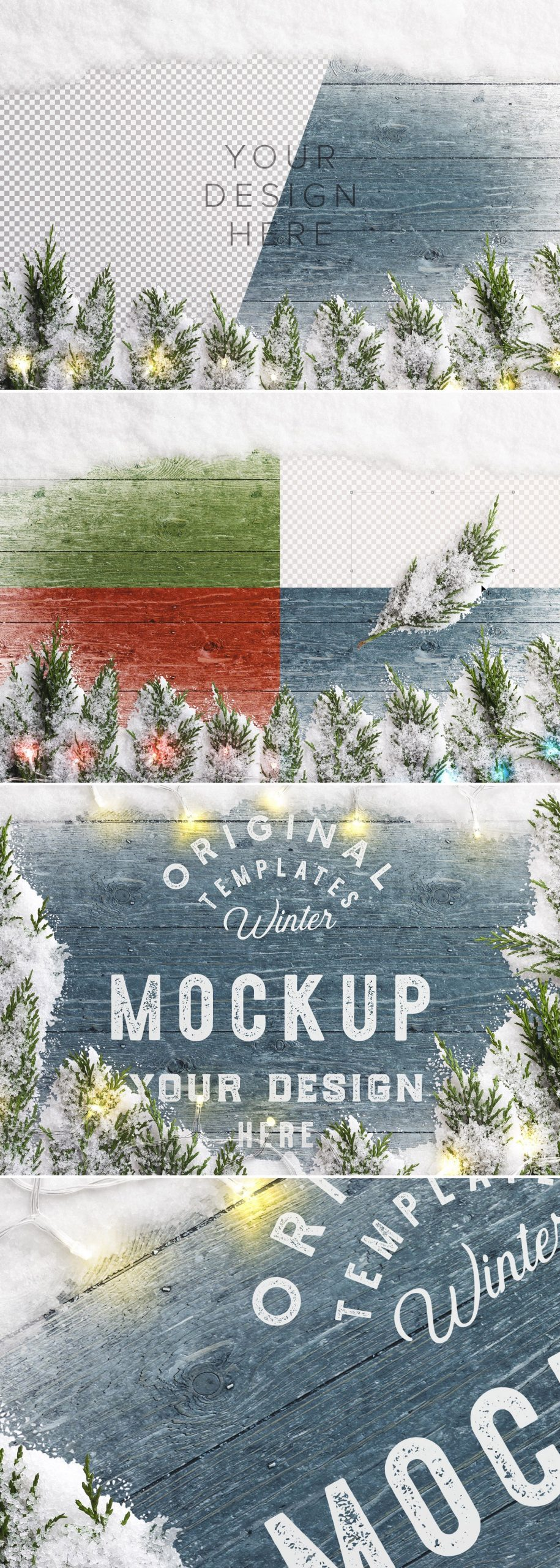 winter background w snow fir tree lights preview1 1 scaled