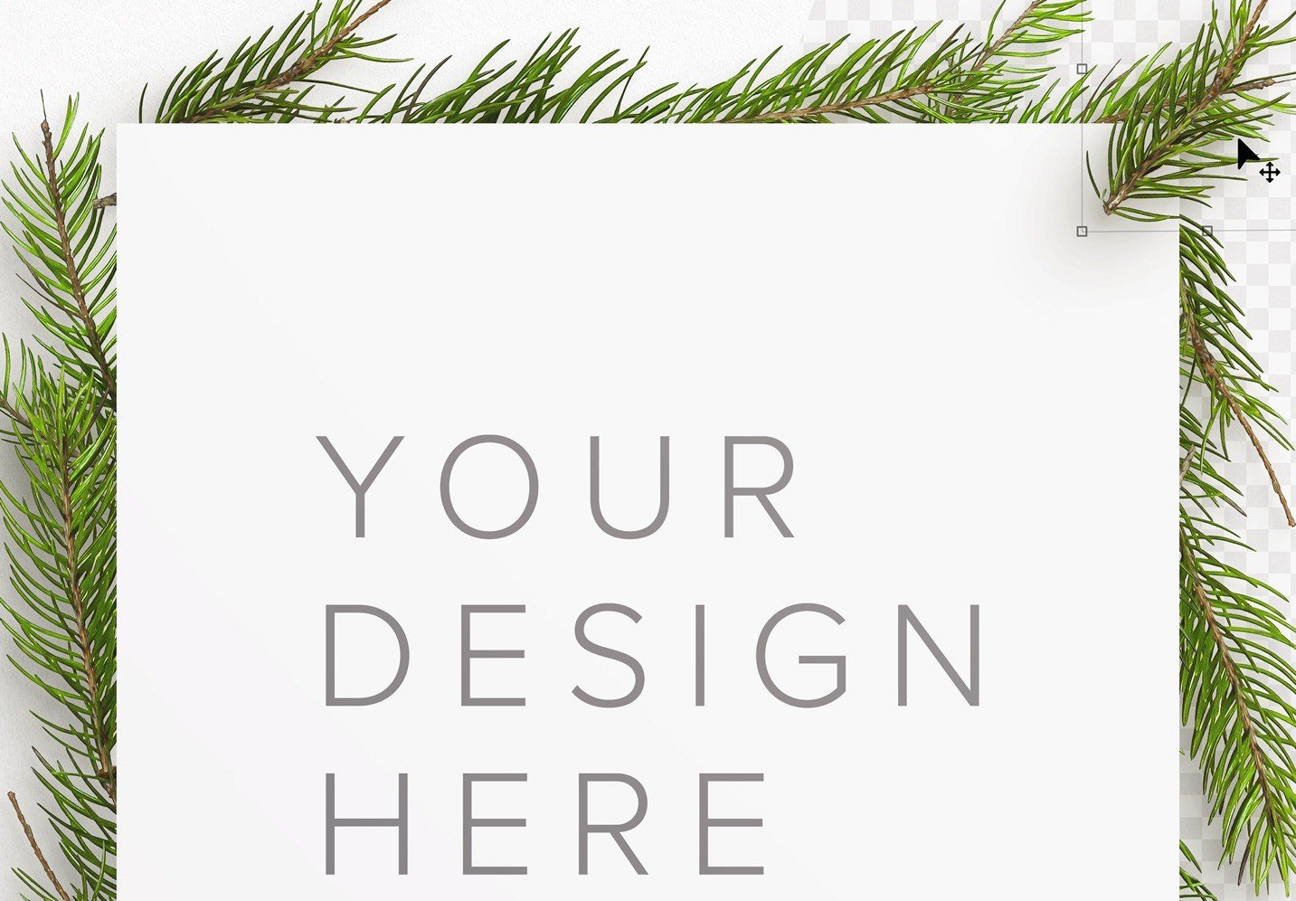winter frame fir tree mockup image01