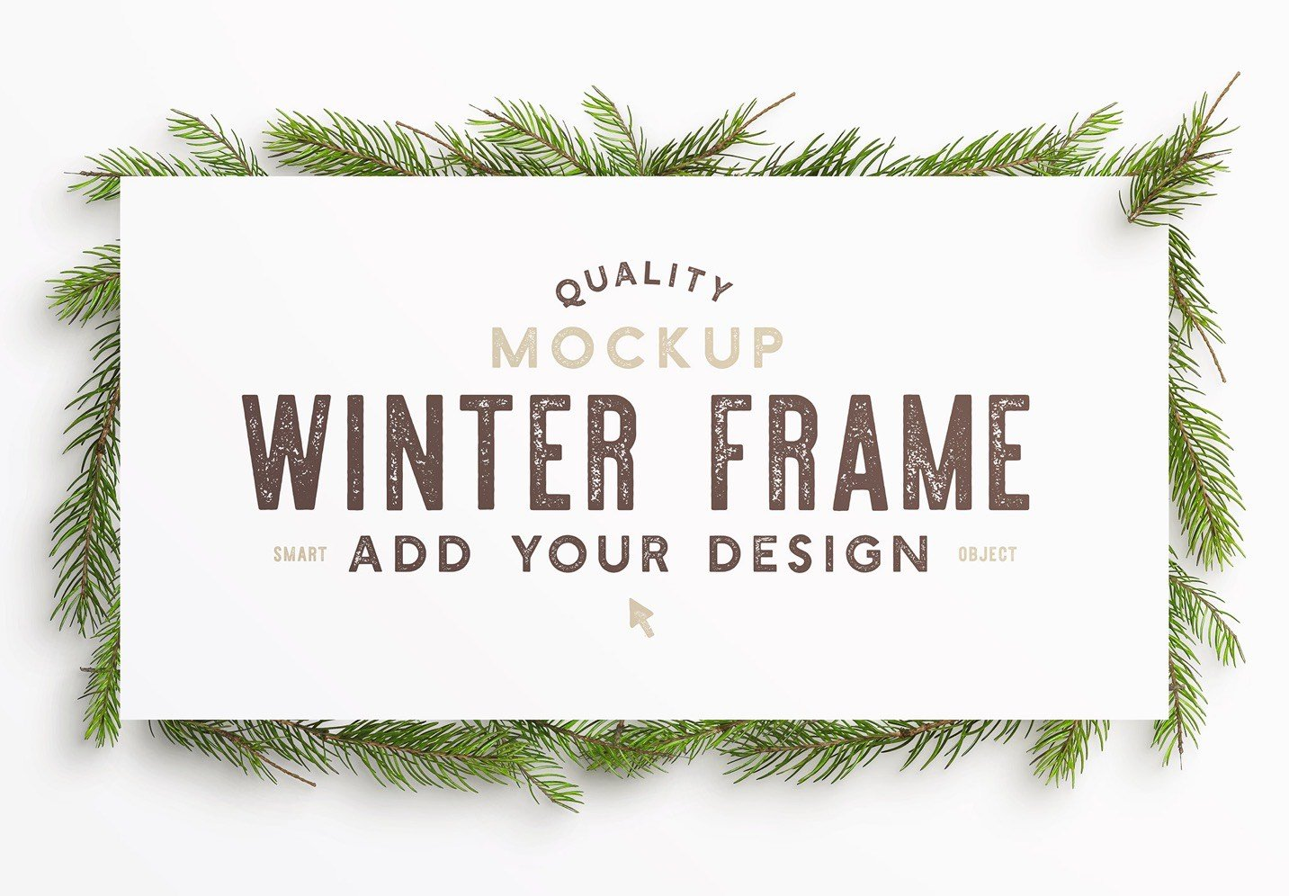 winter frame fir tree mockup image04