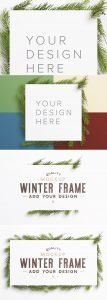 winter frame fir tree mockup preview1 scaled