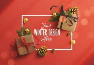 winter frame gift mockup image03