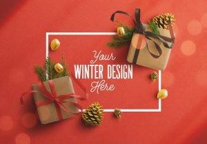 winter frame gift mockup thumbnail
