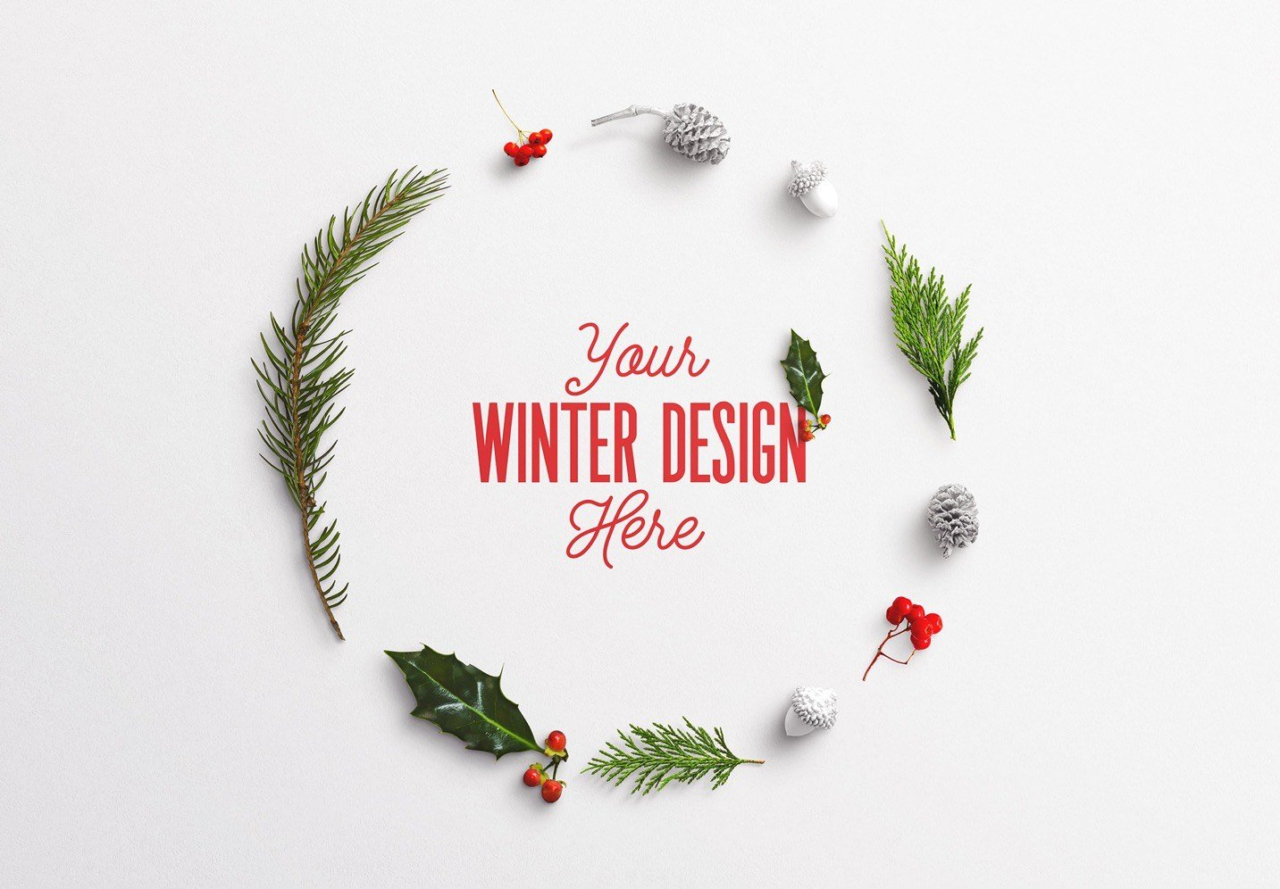 winter frame nature mockup image03