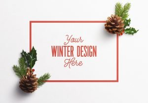 winter nature frame scene mockup image03