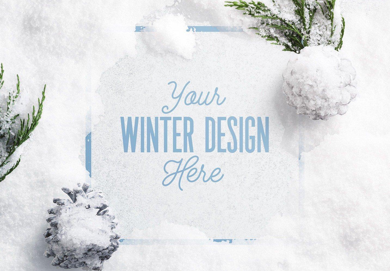 winter snow frame mockup 2 image03