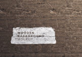 wooden background mockup thumbnail