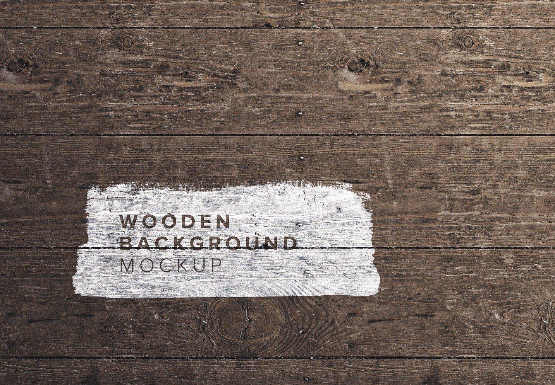 wooden background mockup thumbnail