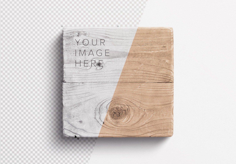 wooden sign mockup image01