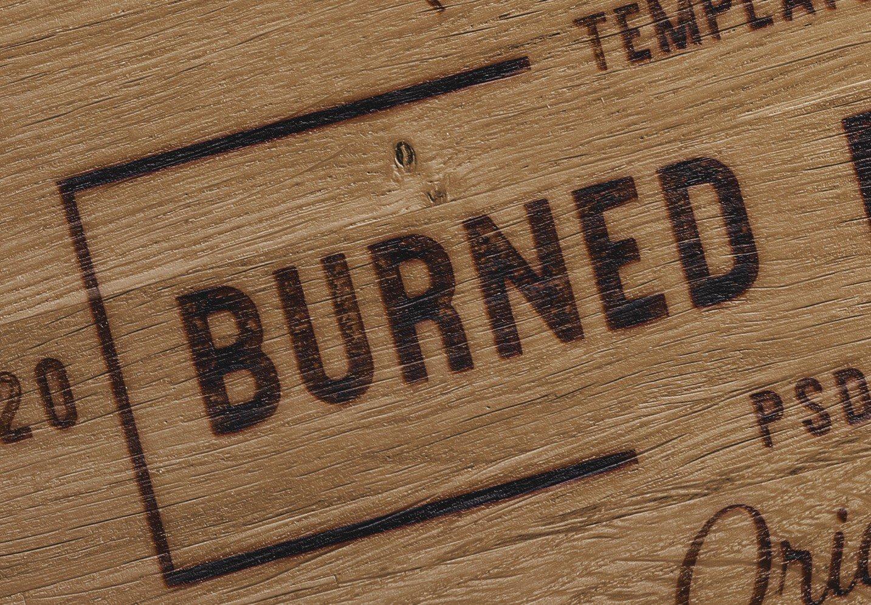 wooden table burn effect mockup image04