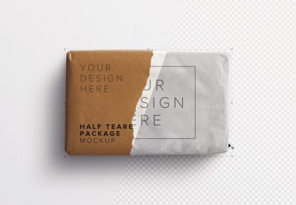 wrapped box half teared image01