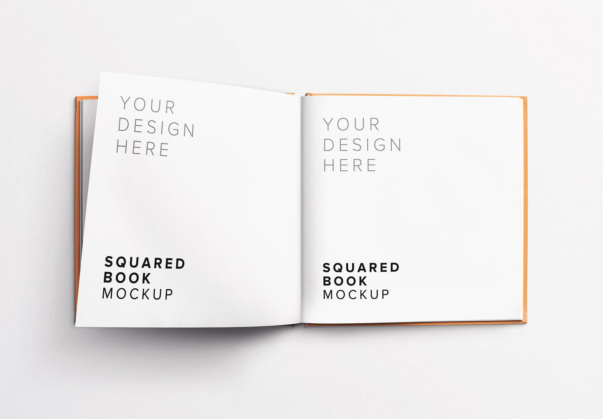 book squared opened left 4 page mockup Thumbnail