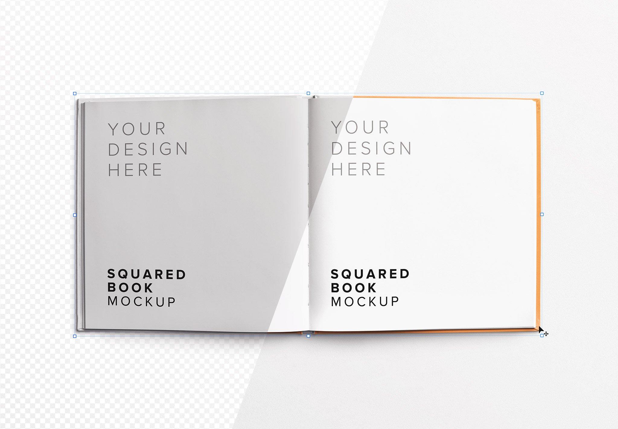 book squared opened mockup image01