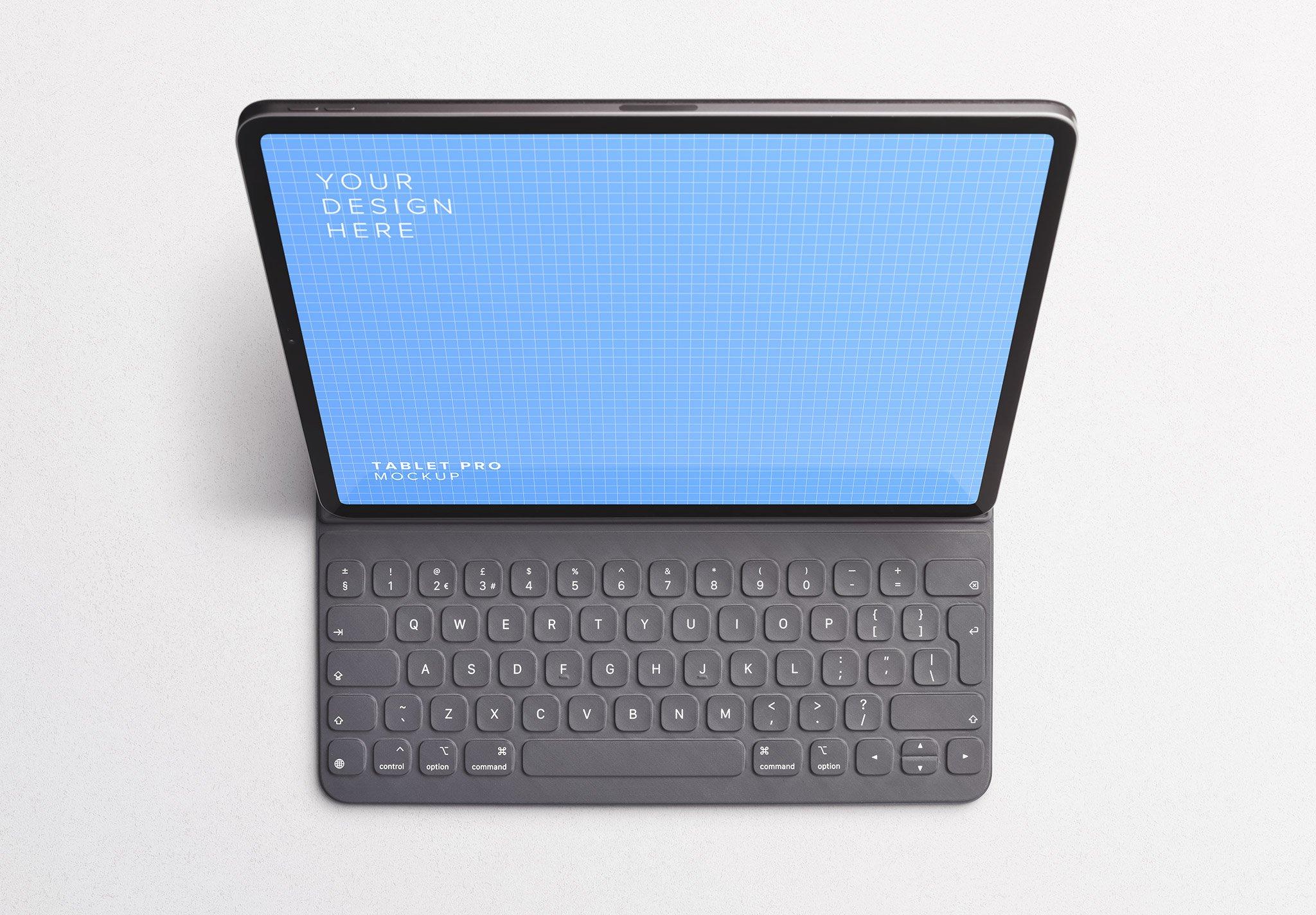 tablet pro mockup w keyboard Thumbnail