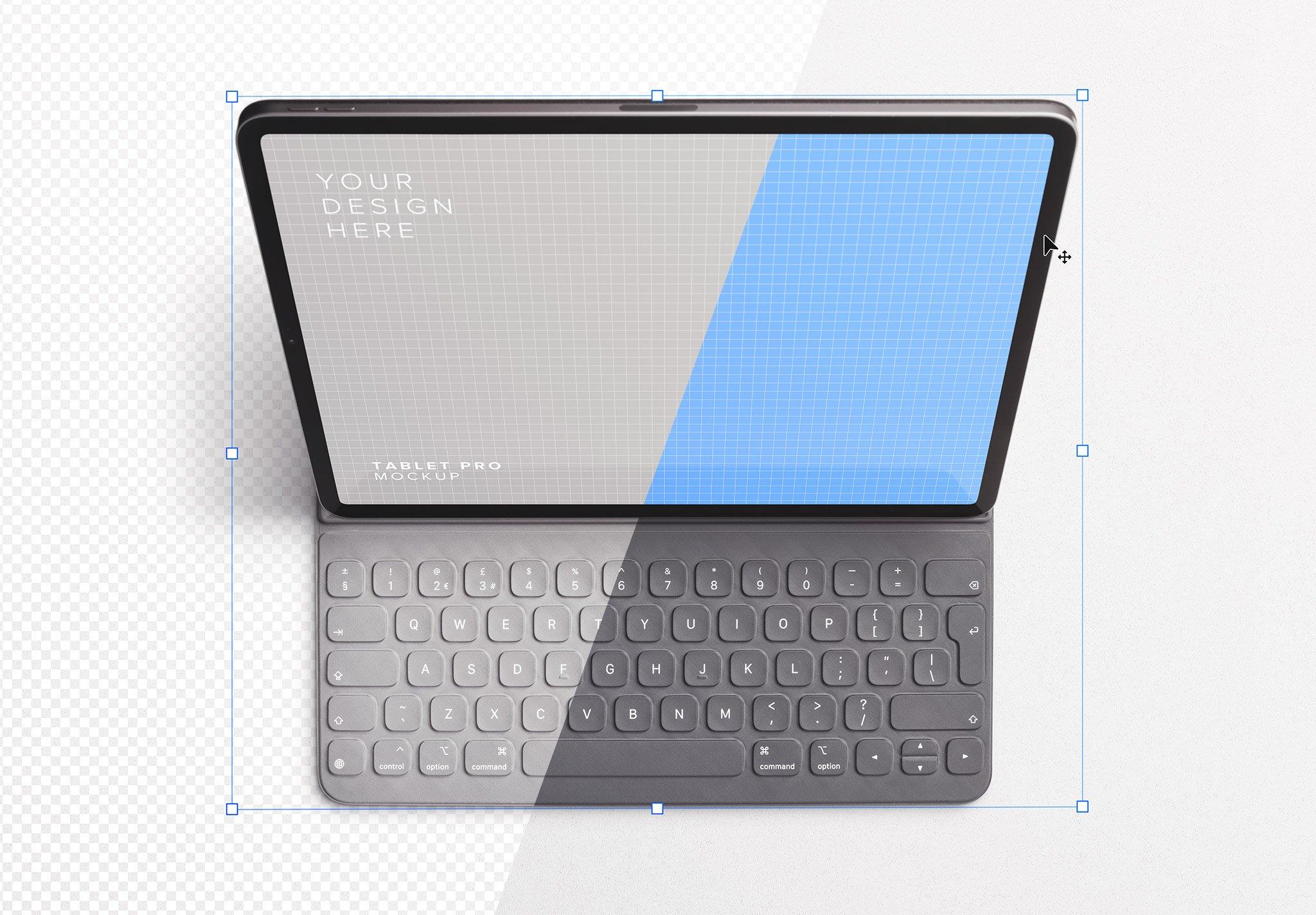 tablet pro mockup w keyboard image01