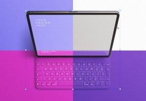 tablet pro mockup w keyboard image02