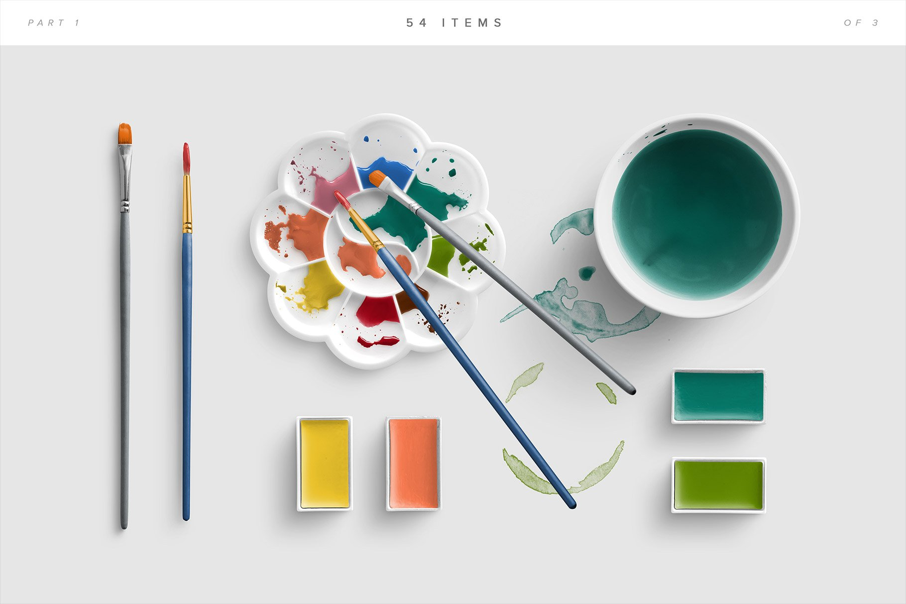 watercolor mockup scene creator procreate5 3a list of items