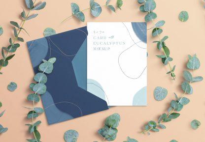 5x7in card envelope mockup w eucalyptus image03
