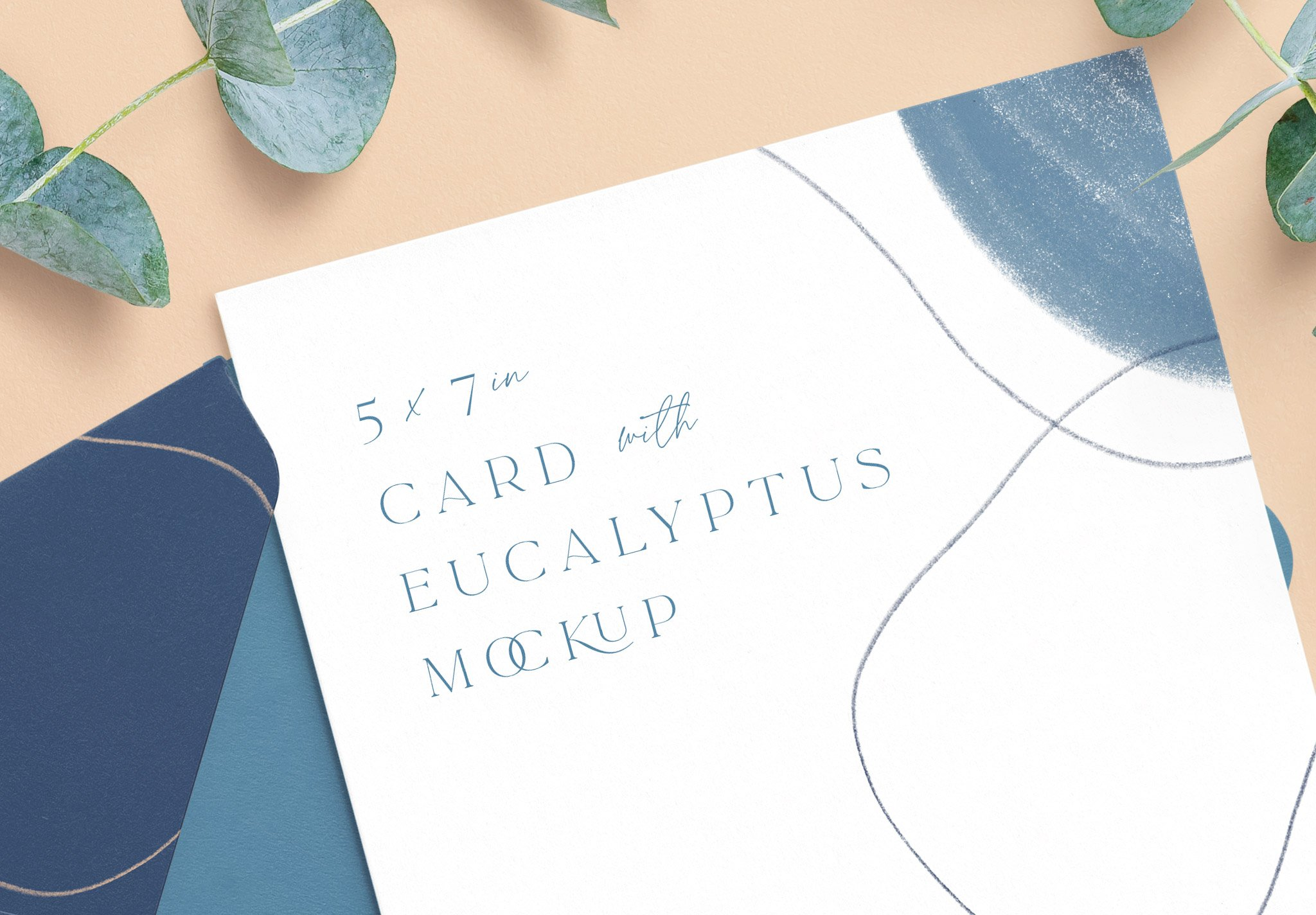 5x7in card envelope mockup w eucalyptus image04