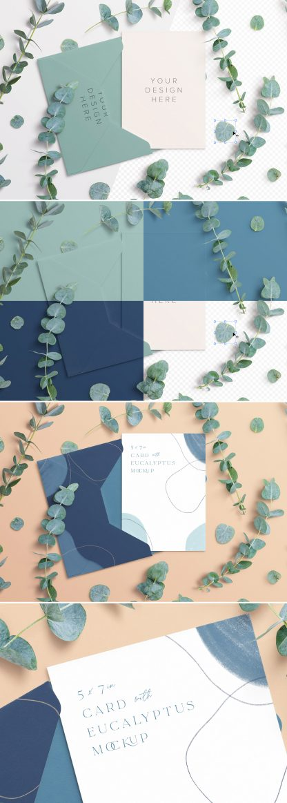 5x7in card envelope mockup w eucalyptus preview scaled