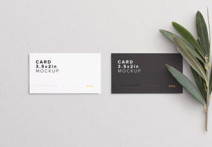 business cards layout 1 thumbnail