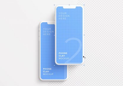 iphone smartphone clay layout 1 mockup image01