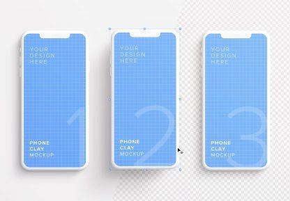 iphone smartphone clay layout 2 mockup image01