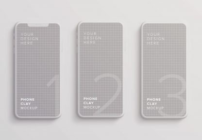 iphone smartphone clay layout 2 mockup image02