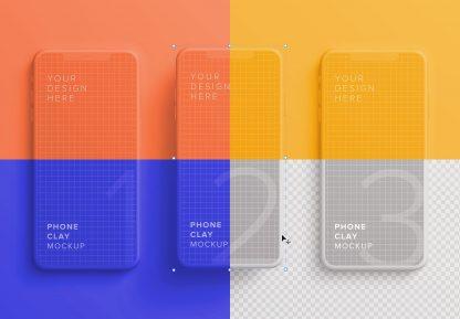 iphone smartphone clay layout 2 mockup image03