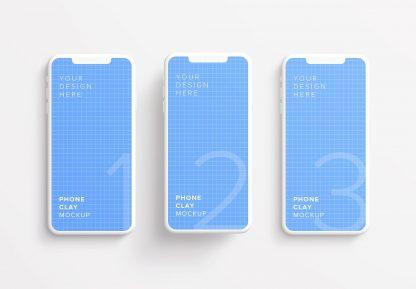 iphone smartphone clay layout 2 mockup thumbnail