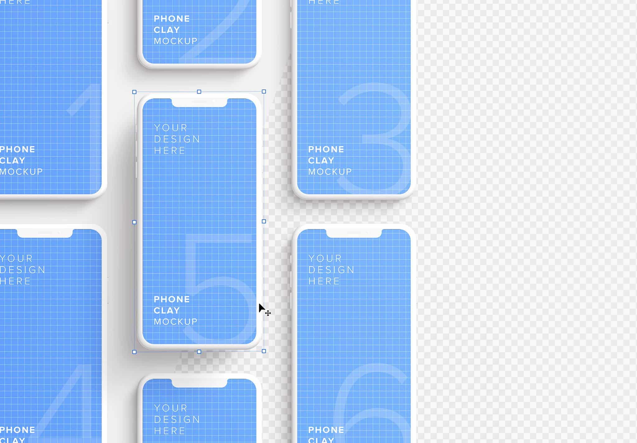 iphone smartphone clay layout 4 mockup image01