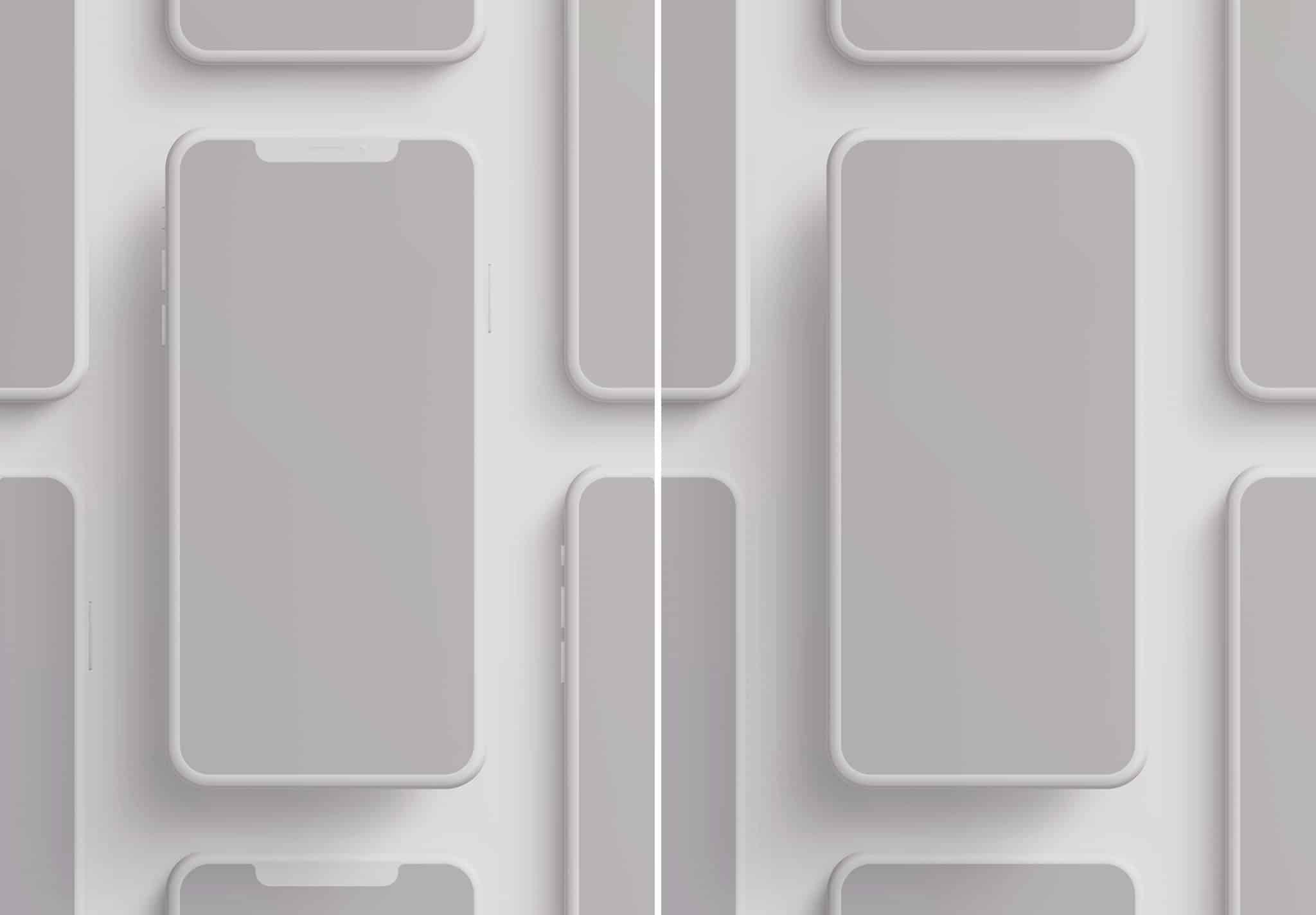 iphone smartphone clay layout 4 mockup image02
