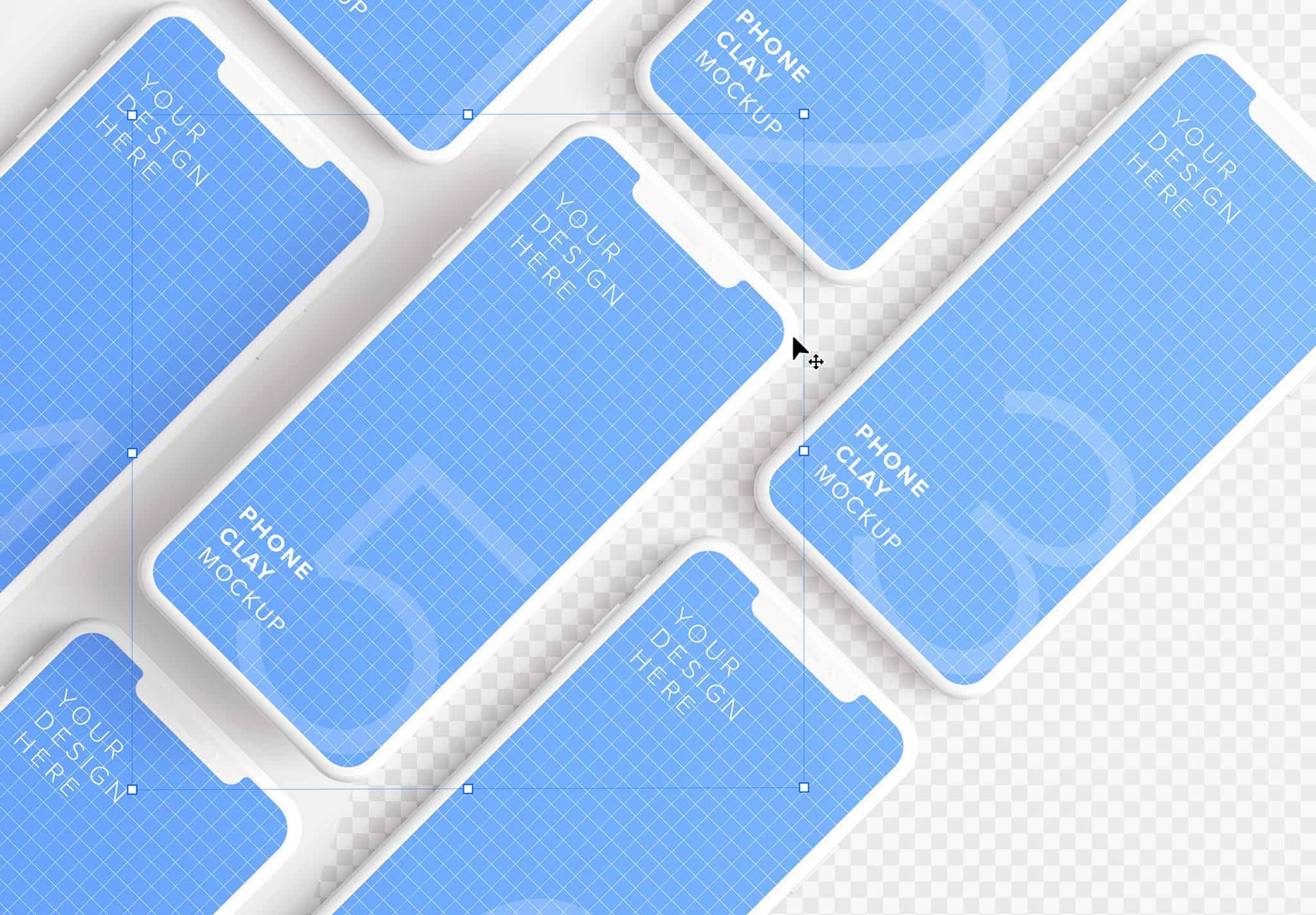 iphone smartphone clay layout 5 mockup image01