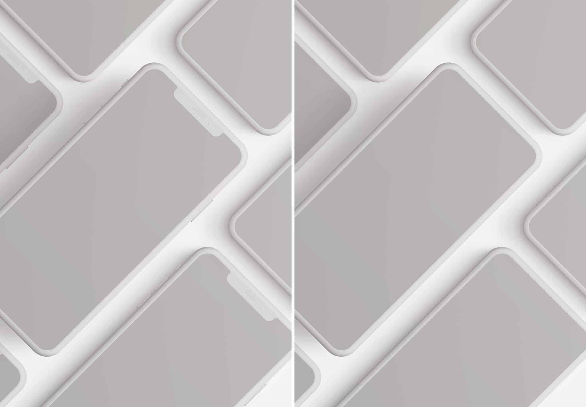 iphone smartphone clay layout 5 mockup image02