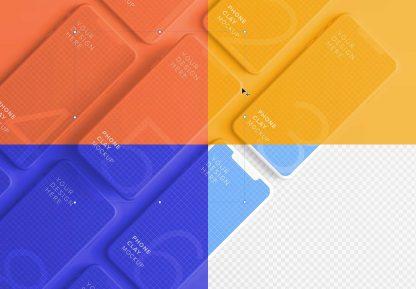 iphone smartphone clay layout 5 mockup image03